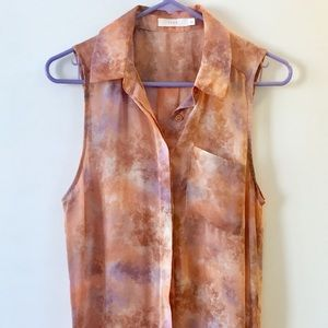 Lush from Nordstrom Marble Print Tunic Top